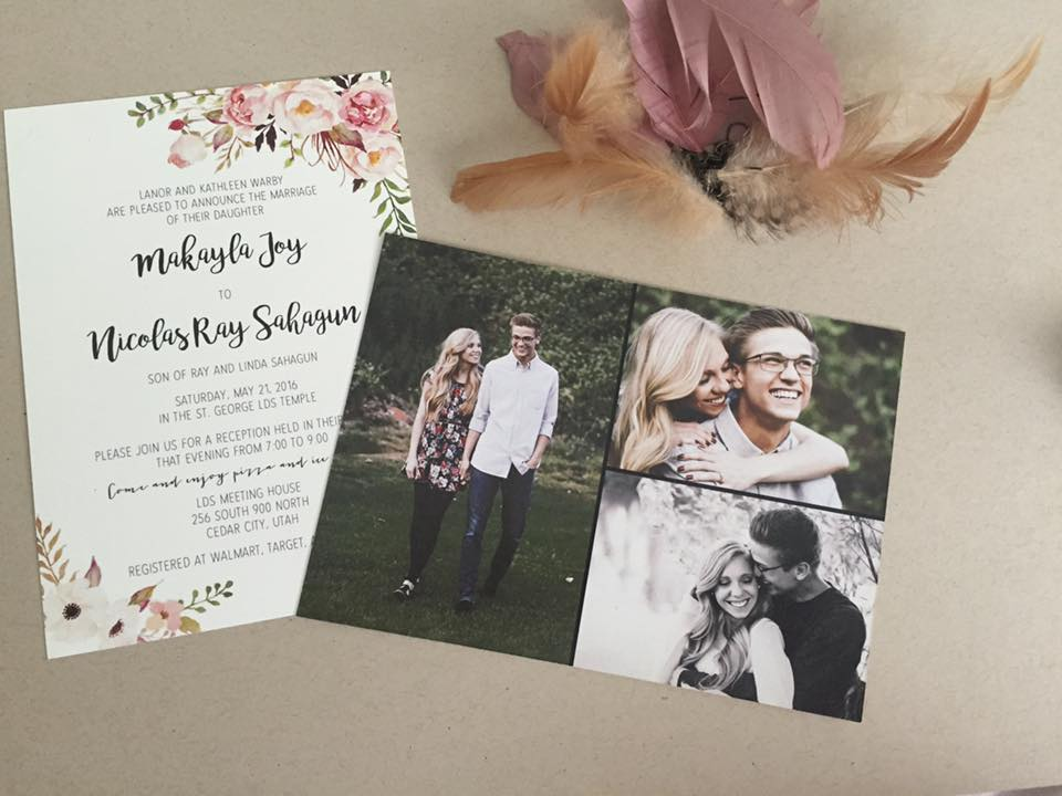 Utah Wedding Invitations  Beautiful Wedding Announcements