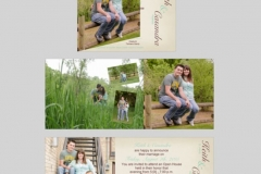Utah wedding invitations - Watkins Wedding Printing Cards Side Fold Off Center 2 Side