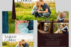 Utah wedding invitations - Watkins Wedding Printing Cards Top Fold 2 Side