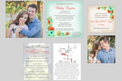 Utah wedding invitations - Watkins Wedding Printing Inserts 2 Side