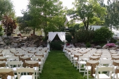 utah wedding decorations rentals I DO Decor outdoor ceremony
