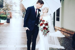 Utah wedding Flowers - Flower Patch bride groom and bouquet