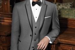 Utah Wedding Tuxedos - A Cleaner Image Formal Wear gray sharkskin oscar tux
