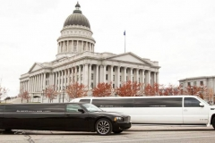 Utah wedding limo - Divine Limousine white and black