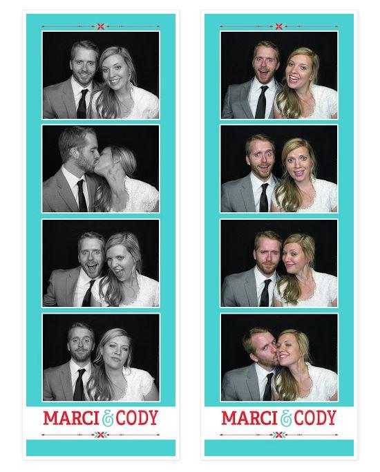 Utahs wedding photobooth photo strips