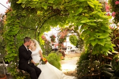 Salt Lake City Utah weddings reception center Le Jardin bride and groom