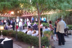 Utah wedding venue - Eldredge Manor courtyard lights