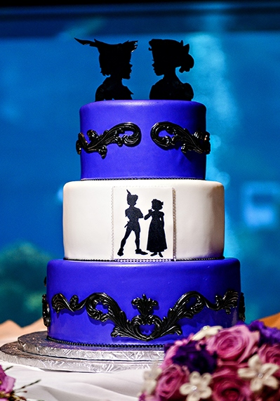 Peter Pan inspired wedding cake