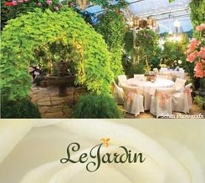 Utah wedding reception venue Le Jardin gardens