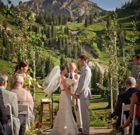 Utah Mountain Wedding Venue - Alta Lodge ceremony