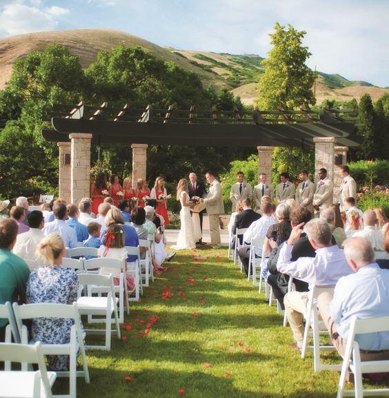 utah wedding venue red butte garden salt lake bride